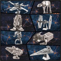 Wholesale 1LOT HHA760 DIY D Models Star wars ATAT Tie Fighter Kits Styles Metallic Nano Puzzle no glue required For adult Chirstmas gift