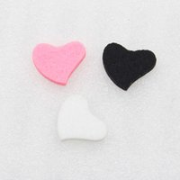 able oil - Colorful Scent able Felt Pads for crooked heart Essential Oil Diffusing Perfume Locket Pendant memory Locket