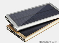 Wholesale Dual USB Solar Battery Chargers High Capacity mAh Portable Solar Energy Panel Charger Power Bank For Mobile Phone PAD Tablet MP4