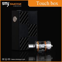 alloy screen works - Original SMY Touch Box W Box Mod Temperature Control Touch Screen Display DIY Working Modes Spring Loaded Top Pin Aluminum Alloy