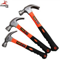 Wholesale Hong Kong flying deer medium and small number of high grade plastic coated mirror handle hammer from the hammer claw hammer steel hammer