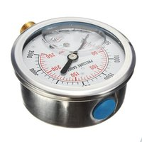 Wholesale High Quality inch NPT Male Hydraulic Fuel Oil Liquid Water Filled Pressure Gauge PSI order lt no track