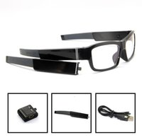 Wholesale New P no pinhole camera glasses DVR HD P eyewear DVR with dobule battary Freeshipping High Quality