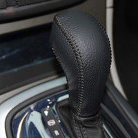 Wholesale For Buick Regal automatic gear cover Excelle GT XT gear shift knob cover genuine leather Car styling cover Interior decoration DIY