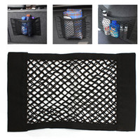 Wholesale 40x25cm Universal Car Truck Storage Net Pocket Bag Double Layer Bag With Adhesive HA10220