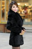 Wholesale hot selling New Womens noble mink coat black label in the long coat WPC0086 new