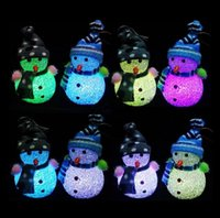 Wholesale Christmas Gift Lovely Table Decor LED Light Changing Christmas Snowman LED Light Night Lamp Brand New And High Quality