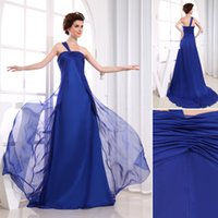 angeles outs - Cheap One Shoulder With Sash Ruched Chiffon Plus Size Evening Dresses Royal Blue That Will Stand Out Los angeles