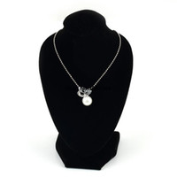 Wholesale 1pcs Black Mannequin Necklace Decorate Pendant Jewelry Display Stand Show