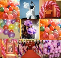 advertising balloon suppliers - Promotional inch colorful advertising balloons wedding decoration party suppliers top quality toys color mix DHL Free