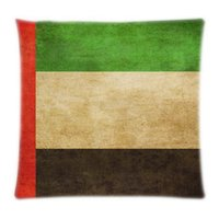 arab emirates flag - Custom United Arab Emirates Flag home textile x16 x18 x20 x24 inch Two Sides Pillow Case Throw protector Covers