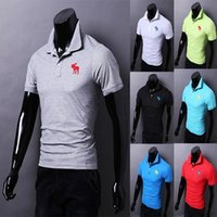 summer clothes for men - 2015 summer high quality fashion short sleeve clothes polo shirts for men with colors