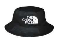 fishing hat - 2015 New THE GHOST FACE Bucket Hat For Men Women Outdoor Sun Letters Fishing Hat Black Hip Hop Bucket Caps