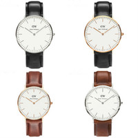 Wholesale top luxury Brand Daniel Wellington Watches Women men DW Watch Leather strap sports Quartz Wristwatch