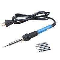 Wholesale Adjustable Electric Temperature Gun Welding Soldering Iron Tool V W Tips MAC_100