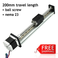 Wholesale Fuyu Brand C5 Ball Screw and nema stepper motor Driven Linear Motion Guide Rail For Printer