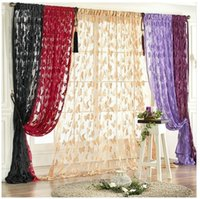 Wholesale Sheers Curtains Cheap - Fashion Cheap Curtain Butterfly Pattern Tassel String Door Curtain Window Room Curtain Divider Valance 100*200cm Fast Shipping