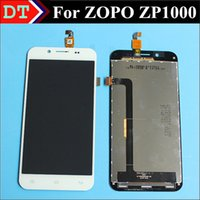 Cheap Wholesale-100% Original New ZP1000 LCD Display + Digitizer Touch Screen Glass for ZOPO ZP1000 Smartphone 1280*720 White color