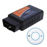 Wholesale Scaner veicular automotivo Diagnostic Tool OBD OBD2 OBD II ELM327 ELM V2 Bluetooth Car Interface Scanner work on Android