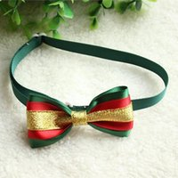Wholesale New Pet Dog Cat Bow Ties Christmas Adjustable Cute Dog Bow Tie Collars YE01113