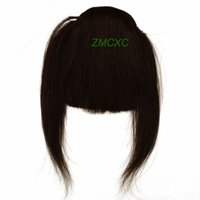 Wholesale High Quality Straight Clip In on Bang Fringe Remy Human Hair Extensions Dark Brown