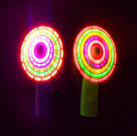 Wholesale Flash fan colorful light emitting mini fan light up toy flash windmill colorful small fan