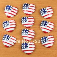 american flag crafts - American Flag Hearts Stars Patriotic Resin Cabochon Flatbacks Flat Back Hair Bow Center Crafts DIY REY48