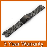 Wholesale Black mm Brand New Stainless Steel Watch Band Bracelet Strap Watchband for Pebble Steel Smart Watch PP16B