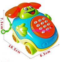 Wholesale new children in early childhood educational toy piano wire phone calls with music hall car baby young