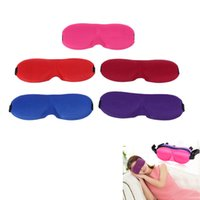 Wholesale 1Pc D Sleeping Eye Mask Eye Care Sleep Nap Cover Portable Cotton Blindfold Sleeping Mask