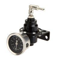 Wholesale High Quality Adjustable Car Auto Fuel Pressure Gauge Regulator KPa Original Oil Meter Red Blue Golden Black Titanium Gray order lt no