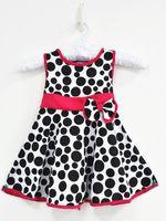 bohemian clothes - 2015 summer girls dress baby girl dresses children lace dot bowknot sweet dress sleeveless girl dresses kids clothes WD3047
