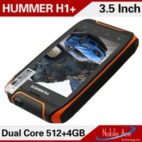 Wholesale New Original waterproof Hummer H1 Phone MTK6572 Dual Core Rugged smartphone GPS Android shockproof G