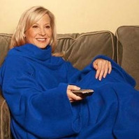 polar fleece blanket - 50pcs Snuggie Fleece Blanket with Sleeves BCRF Blue color
