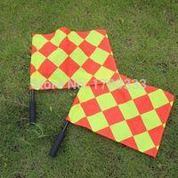 Wholesale 30pair soccer referee Flag Football Referee linesman s flag Soccer referee equipment in stock