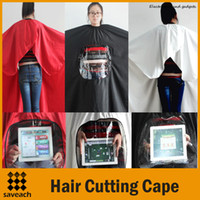 hair cutting cape - New Arriva Salon Hairdressing Waterproof Haircutting Gown Hairdresser Hair Cutting Barber Hair cut Tool Cape Cloth Apron Shade Mixed Color