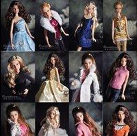 Wholesale 10 Barbie Dolls Clothing Sets Fashionable Dresses For Original Barbie Doll Casual Dress Suits Clothes