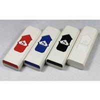 USB Encendedores Cigarrillo electrónico recargable sin llama cigarro LED batería recargable del cigarrillo sin llama a prueba de viento encendedor de Promoción