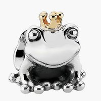 pandora charms - 925 Sterling Silver Beads Authentic European Jewelry Fit Pandora Charms Frog Prince Golden