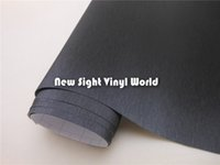 vinyl wrap - Black Brushed Metallic Vinyl Film For Car Wraps With Air Bubble Free Size M Roll
