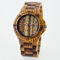 bangles collection - Wood Band Natural Wood Wooden Watch For Men Zebra Wood Wristwatch Wooden Watch Date Bracelet Bangle Quartz Collection Christmas