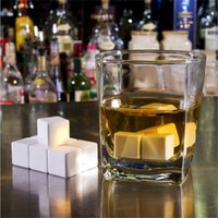 Wholesale Hot Sale New Arrival Ceramic Whisky Ice Stones Drinks Cooler Cubes Scotch Glaciers Rocks Freezer pouch Gift High Quality