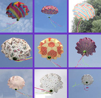 Wholesale 2016 New Hot China Throwed parachute flying umbrella umbrella throwing children s educational toys cm Colors mix