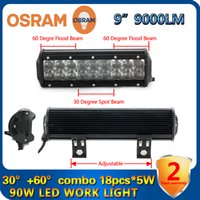 Wholesale 9 Inch W OSRAM Led Light Bar Combo Beam Work Light WD Off Road Driving Lamp For Pickup Wagon UTB Cab ATV SUV Jeep Truck Boat Bus Mining