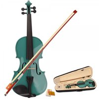 Wholesale US Stock New Violin Green Acoustic Violin Case Bow Rosin for Violins Beginner From USA Violino
