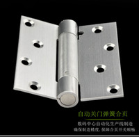 adjustable door hinges - 4 inch stainless steel automatic concealed spring door hinge closing speed adjustable double door spring hinge