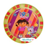 beautiful disposable plates - Beautiful Girl Paper Disc Cake Plates Disposable Tableware Tray Birthday Party Decoration