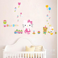 background cats - bedroom decoration KT cat cozy bedroom wall stickers children s room cartoon decorative background wall stickers removable ABC1017