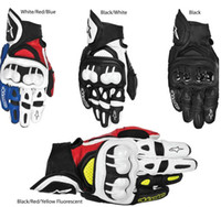 Wholesale NEW Top GPX Motorcycle Racing Gloves Real Leather Size Blue Red Black Motorbike Moto Guantes Cool Rider Luvas