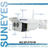 al por mayor cámaras externas-SunEyes SP-P701W 720P cámara IP inalámbrica ONVIF exterior resistente a la intemperie con ranura micro SD P2P libre para Android y IPhone APP